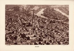 SEINE MARITIME, ROUEN, Vue Générale, Le Port, Planche Densité = 200g, Format 20 X 29 Cm, (C.A.F.) - Géographie