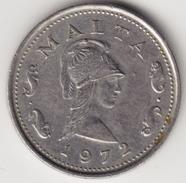 @Y@    Malta  2 Cents  1972    ( 4676 ) - Malta