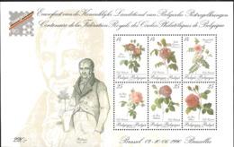 Belgium 1990 Exhibition Belgicia '90, Stamp Collector Ass. Roses, Mi Bloc 61 MNH(**)