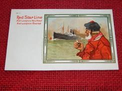 ANTWERPEN -  ANVERS -  RED STAR LINE - Antwerpen - New York  - Antwerpen - Boston - (illustrateur Cassiers) - Antwerpen