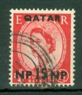 Qatar: 1960   QE II    SG24   15n.p. On 2½d    Used - Qatar