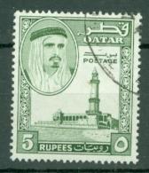 Qatar: 1961   Shaikh Ali Al-Thani    SG36   5R    Used - Qatar