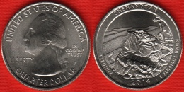 "USA Quarter (1/4 Dollar) 2014 P Mint ""Shenandoah"" UNC - Émissions Fédérales"