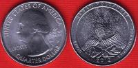 """USA Quarter (1/4 Dollar) 2012 P Mint """"Hawai´i Volcanoes"""" UNC - Émissions Fédérales"""
