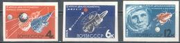 USSR 1964. 2923-2925 (3009-3011) 12 APRIL. Cosmonautics Day