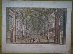 Vue D'optique XVIIIème - LONDRES - The Inside Of St MARTINS Church In The Fields /Vue Du Dedans De L'Eglise St MARTIN - Prenten & Gravure
