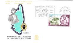 Bicentenaire Napoléon 1969 - Flamme Ajaccio Corse - Aigle Eagle