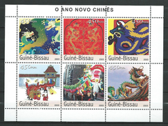 Guinea Bissau / Guinée-Bissau 2003 Chinese New Year - Year Of The Dragon. S/S.MNH