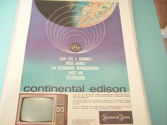 PUBLICITE TELEVISION CONTNENTAL EDISON - Publicité