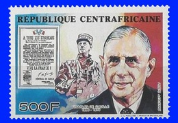 Centreafrique  YT N° PA  402 Charles De Gaulle Neuf ** Sans Charnière