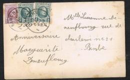 Année 1922 - COB 193 Et 198 Sur Carte Postale