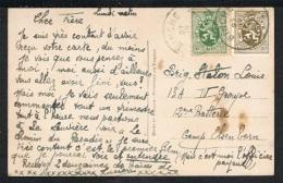 Année 1929 - COB 280 Et 283 Sur Carte Postale