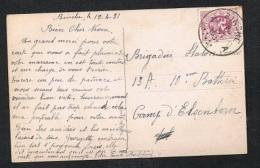 Année 1929 - COB 284 Sur Carte Postale