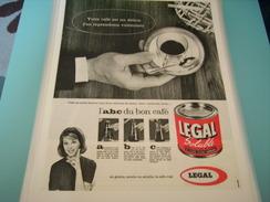 ANCIENNE PUBLICITE CAFE LEGAL ABC DU BON CAFE - Posters