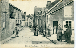 08 - RILLY LA MONTAGNE - Rue De Reims. - Francia
