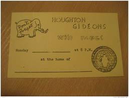 ELEPHANT Elephants Postal Stationery Card USA