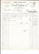 08 - Facture 1887, FONDERIE CORNEAU  ALFRED DEVILLE PAILLIETTE à CHARLEVILLE - Francia