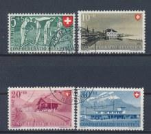 Zwitserland/Switzerland/Suisse/Schweiz 1947 Mi: 480-483 Yt: 437-440 (Gebr/used/obl/o)(1227)