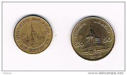 THAILAND 25 En 50  SATANG   1993/1995 - Thaïlande