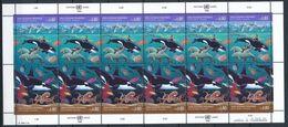 Nations Unies ONU United Nations Genève 1992 - Océans, Orques, Pieuvres ... - Feuillet Complet 225 - 226