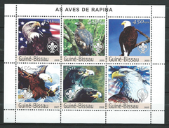 Guinea Bissau / Guinée-Bissau 2003 Aigles.Scouting,Birds Of Prey.S/S.MNH