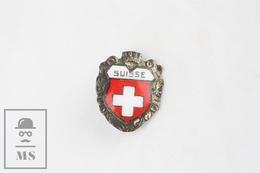 Coat Of Arms Of Switzerland Enamel Badge - Ciudades