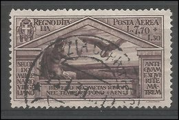 Italia Italy Italien Italie 1930 Virgilio Aerea  L. 7,70 Used - 1900-44 Vittorio Emanuele III