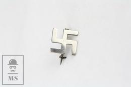 Swastika Chromed Colour Small Badge - Badges