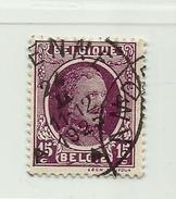 (345) Timbre Belgique Roi Albert I   N° 195 - 15c - 1922-1927 Houyoux