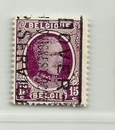 (353) Timbre Belgique Roi Albert I   N° 195 - 15c - 1922-1927 Houyoux