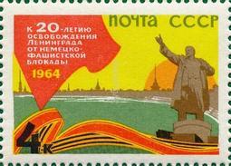 USSR 1964. 2941 (3025) 20th Anniversary Of The Liberation Of Leningrad From The Nazi Blockade