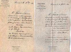 VP9094 - 2 Lettres De FAIVRE Banquier à BEAUME - Bank & Insurance