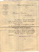 VP9095 -  Lettre De FAIVRE Banquier à BEAUME - Bank & Insurance