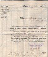 VP9096 -  Lettre De FAIVRE Banquier à BEAUME - Bank & Insurance
