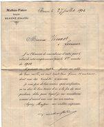 VP9097 -  Lettre De FAIVRE Banquier à BEAUME - Bank & Insurance