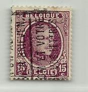 (389) Timbre Belgique Roi Albert I   N° 195 - 15c - 1922-1927 Houyoux