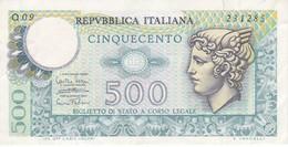 BILLETE DE ITALIA DE 500 LIRAS DEL AÑO 1974 -MEDUSA  (BANKNOTE) - 500 Liras