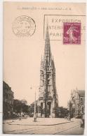BORDEAUX BOURSE Gironde, EXPOSITION INTERNATIONAL PARIS - 1937. - Oblitérations Mécaniques (flammes)