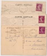 3 MECANIQUES, Saint Malo, Megeve Et Pornichet. - Oblitérations Mécaniques (flammes)