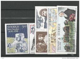 1988 MNH Sweden, Postfris