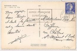 ROUBAIX Nord, ARMEE FRANCAISE ESPRIT JEUNE TECHNIQUE MODERME, 1959. - Oblitérations Mécaniques (flammes)