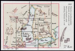 1985, Finnland,  973/76 Block 1, Int. Briefmarkenausstellung FINLANDIA '88, Helsinki (I): Postbeförderung. MNH **