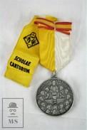 XIII International Eucharistic Congress - Scholae Cantorum - Barcelona 1952 - Pope Pius XII - Religious Medal - Religión & Esoterismo