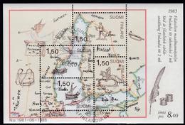 1985, Finnland,  973/76 Block 1, Int. Briefmarkenausstellung FINLANDIA '88, Helsinki (I): Postbeförderung. USED FI