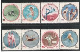REPUBLICA DOMINICANA - 1960  8 VALORI NUOVI STL DEDICATI AI GIOCHI OLIMPICI DI ROMA - IN OTTIME CONDIZIONI.