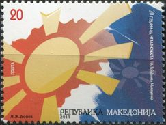 MACEDONIA 2011 The 20th Anniversary Of Independence MNH