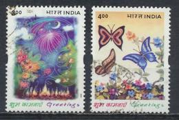 °°° INDIA - Y&T N°1646/47 - 2001 °°°
