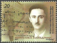 MACEDONIA 2011 The 100th Anniversary Of The Birth Of Millosh Gjergj Nikolla, 1911-1938 MNH