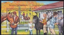 1990 Finnland,  1120/23 Block 6, Jugendhobbys - Reiten.   MNH **