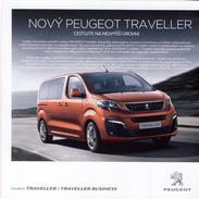 Peugeot Traveller & Business 09 / 2016 Catalogue Brochure Tcheque Czech - Advertising